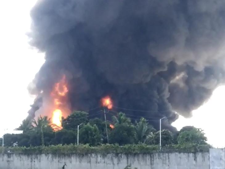 કુશા કેમિકલ કંપનીમા ભીષણ આગથી આસપાસના વિસ્તારમાં દોડધામ મચી ગઈ હતી