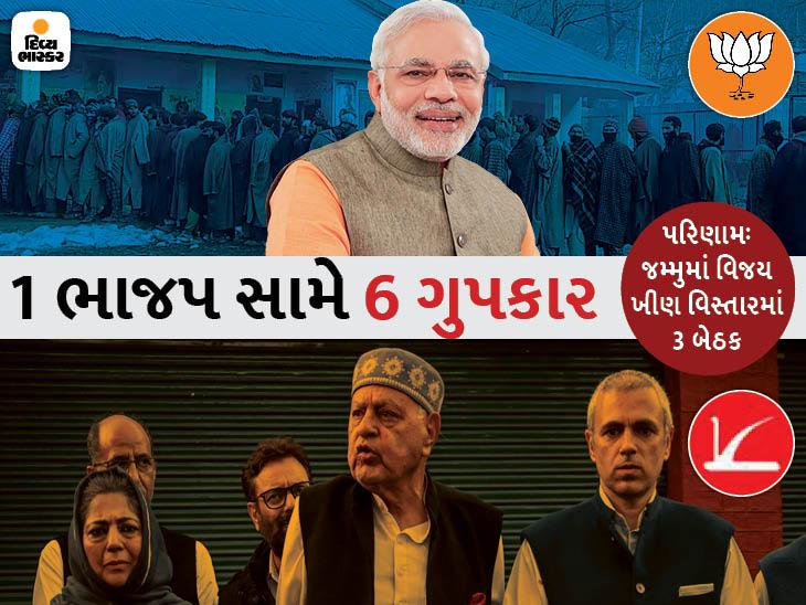 BJPએ રચ્યો ઈતિહાસ, કાશ્મીરમાં ગુપકાર 112 બેઠક પર આગળ, ભાજપને 75 મળી; 10 મુદ્દામાં જાણો પરિણામો ઈન્ડિયા,National - Divya Bhaskar
