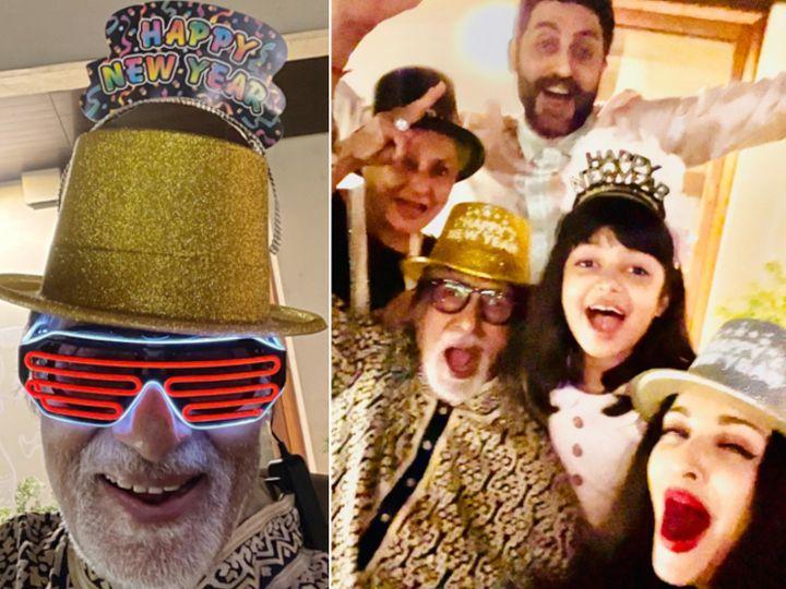 અમિતાભ બચ્ચને ફની ટોપી પહેરીને પરિવાર સાથે તો સોનમ કપૂરે રોમેન્ટિક અંદાજમાં નવા વર્ષનું સ્વાગત કર્યું|બોલિવૂડ,Bollywood - Divya Bhaskar