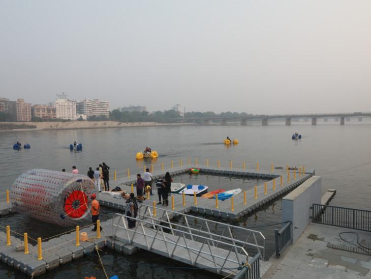 રિવરફ્રન્ટ પર બોટિંગ-વોટર સાયકલિંગ શરૂ, ટૂંક સમયમાં વિદેશથી બોટ લવાશે|અમદાવાદ,Ahmedabad - Divya Bhaskar