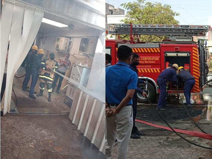 રાજકોટની સ્ટર્લિંગ, સિનર્જી સહિત 7 હોસ્પિટલમાં ફાયર વિભાગની મોકડ્રીલ, હોસ્પિટલ સ્ટાફને આગમાં દર્દીઓને સલામત સ્થળે ખસેડવા પ્રેક્ટિકલ માહિતી અપાઈ રાજકોટ,Rajkot - Divya Bhaskar