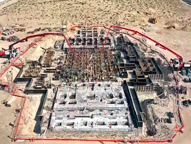 900 કરોડના ખર્ચે 16.7 એકરમાં મંદિર નિર્માણ, 3000થી વધુ મજૂરો સહિત શિલ્પકારો ગુજરાત-રાજસ્થાનમાં નકશીકામ કરે છે વર્લ્ડ,International - Divya Bhaskar