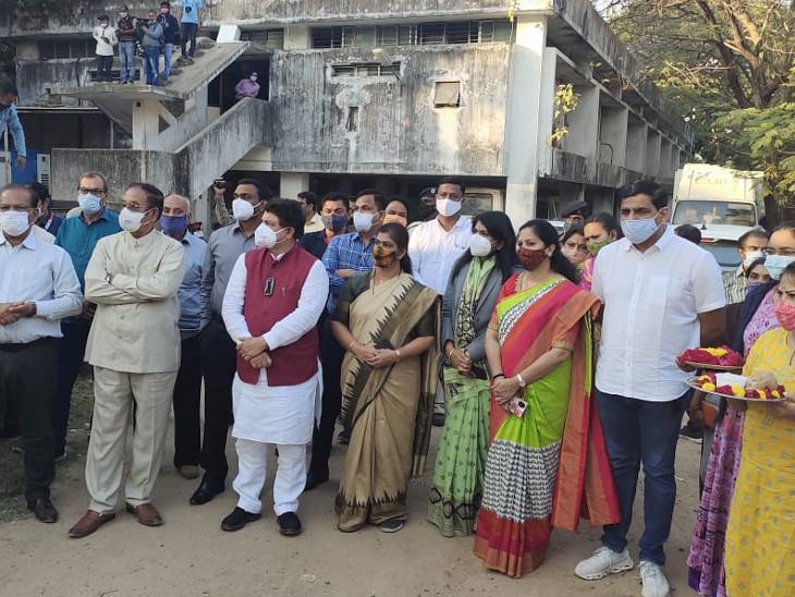 ગુજરાત વિધાનસભાના અઘ્યક્ષ હાજર રહ્યા હતા