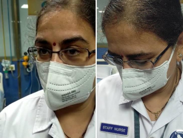 અમે સુપરસ્પ્રેડર છીએ, છેલ્લા 10 મહિનાથી કોઈના ઘરે ગયાં નથી: વેક્સિન લેનાર નર્સ પિંકલબેન પટેલ|અમદાવાદ,Ahmedabad - Divya Bhaskar