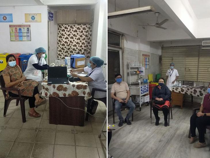 સવારથી 50 ડોકટર અને નર્સે વેક્સિન લીધી, જાણો વેક્સિન પહેલા કેટલી પ્રક્રિયાથી પસાર થવું પડે છે?|અમદાવાદ,Ahmedabad - Divya Bhaskar