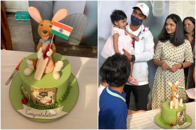 ઓસ્ટ્રેલિયા સામેની સીરિઝ જીતના સેલિબ્રેશન માટેની કેક પર હાથમાં તિરંગો લઈને બેઠેલા કાંગારૂનું ટોપિંગ બનાવાયું, રહાણેએ કાપવાની ના પાડી ક્રિકેટ,Cricket - Divya Bhaskar