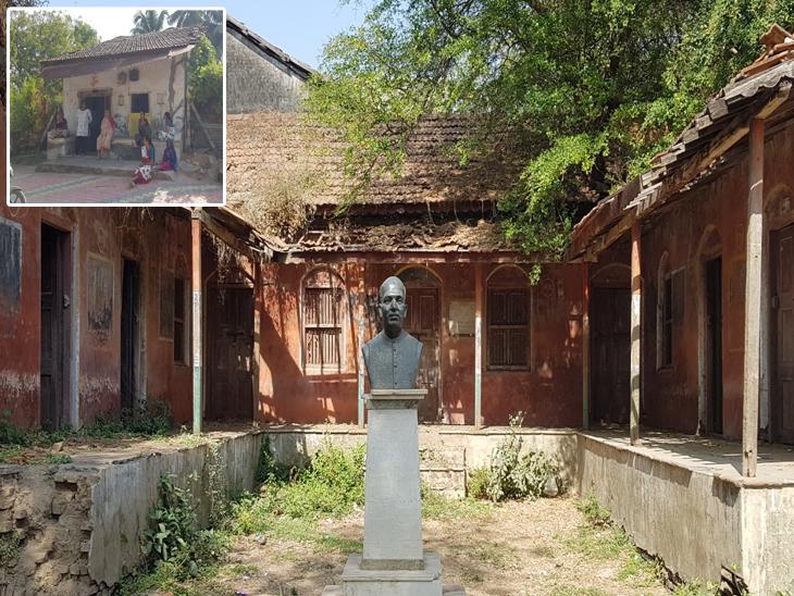 ગાંધીજીના હનુમાન ગણાતા મહાદેવ દેસાઇના બલિદાનને સરકાર વીસરી, દિહેણમાં તેમનું નિવાસ સ્થાન જર્જરિત, પ્રતિમા ધૂળ ખાતી ઓલપાડ,Olpad - Divya Bhaskar