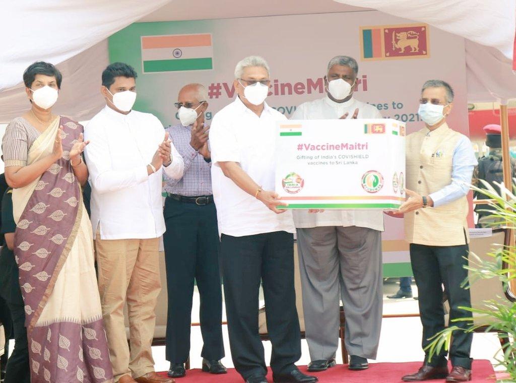 ભારતે શ્રીલંકાને કોવિશિલ્ડ વેક્સિનના પાંચ લાખ યુનિટ્સ આપ્યા, આ પહેલાં બાંગ્લાદેશ, ભૂતાન, નેપાળ અને માલદિવને વેક્સિનનો જથ્થો મોકલ્યો હતો વર્લ્ડ,International - Divya Bhaskar