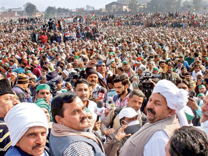 આંસુઓથી ઊમટી જનમેદની - ખેડૂત આંદોલન માટે આંસુ ખાતર-પાણી બન્યાં...|ઈન્ડિયા,National - Divya Bhaskar