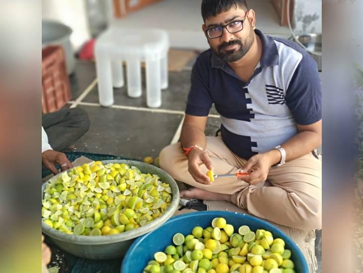 પિતાના નિધન પછી બિઝનેસ છોડીને લીંબુની ખેતી શરૂ કરી, દર વર્ષે 12 લાખ રૂપિયા કમાય છે નફો ઓરિજિનલ,DvB Original - Divya Bhaskar