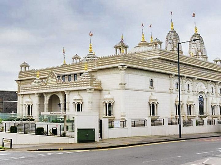 किंग्सबरी, लंदन में स्थित है और यूके का पहला हिंदू स्वामीनारायण गाधी संस्थान मंदिर है।