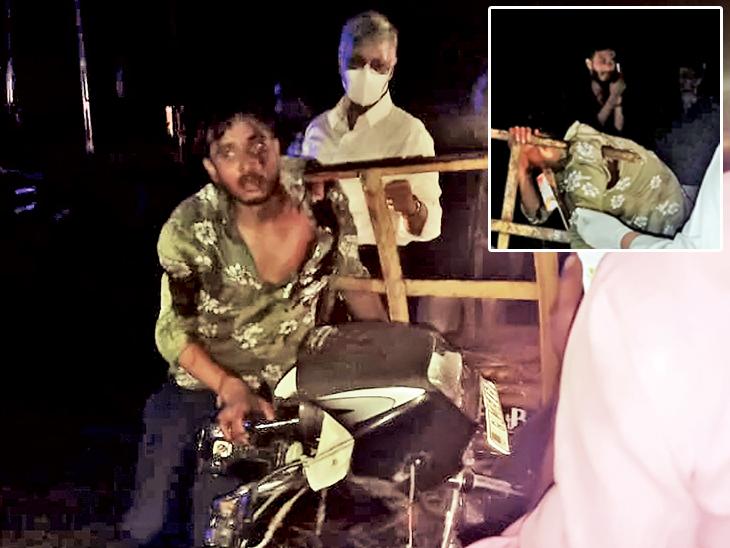 બળદગાડાં પાછળ બાઇક અથડાતાં લોખંડની એંગલ યુવકની છાતીની આરપાર થઇ યુવતીના ગળામાં ઘુસી ગઇ, બંનેનાં મોત બારડોલી,Bardoli - Divya Bhaskar