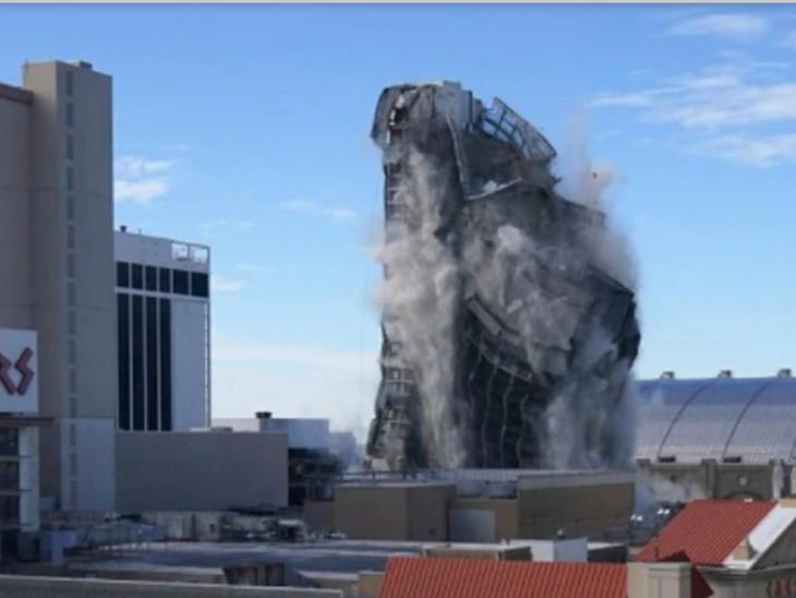 ઈમારતનો કાટમાળ જ 8 ફ્લોર જેટલો ઊંચો હતો.