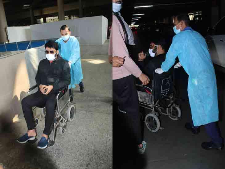 એરપોર્ટ પર વ્હીલચેરમાં કેમ જોવા મળ્યો હતો કપિલ શર્મા? સામે આવ્યું કારણ|બોલિવૂડ,Bollywood - Divya Bhaskar