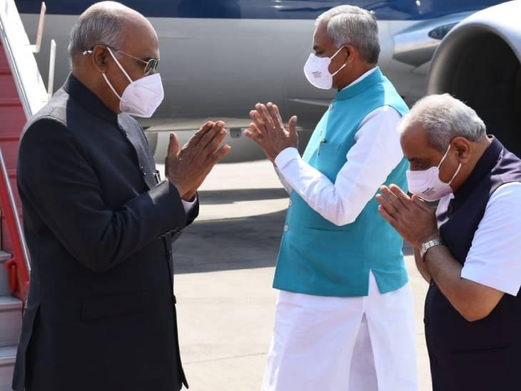 રાષ્ટ્રપતિ બે દિવસની ગુજરાત મુલાકાતે, અમદાવાદ એરપોર્ટ પર તેમનું સ્વાગત કરાયું