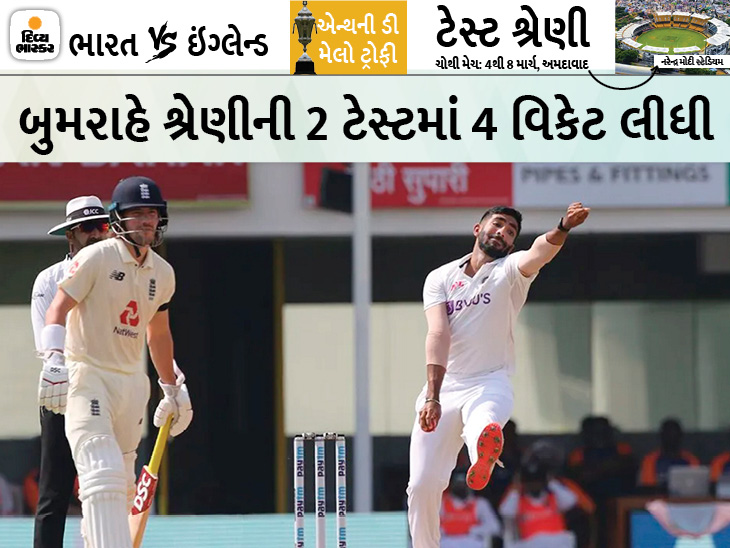 ભારતીય ફાસ્ટર જસપ્રીત બુમરાહે અંગત કારણોસર BCCIને ચોથી ટેસ્ટમાંથી રિલીઝ કરવાનું કહ્યું, અન્ય કોઈ રિપ્લેસમેન્ટ એડ કરાશે નહીં|ક્રિકેટ,Cricket - Divya Bhaskar