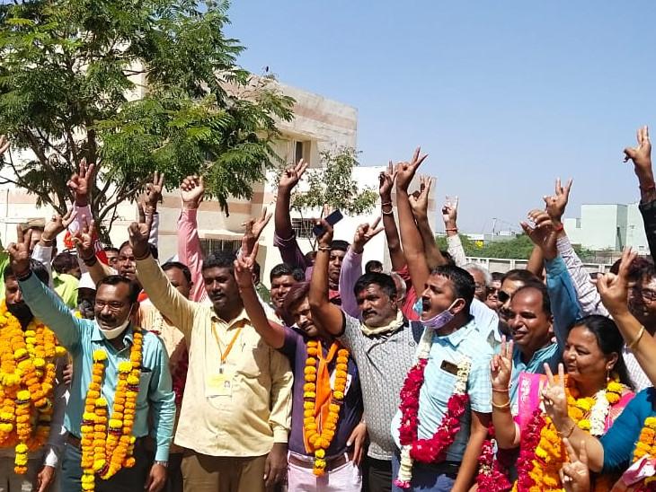 જીલ્લા પંચાયત, નગર પાલિકા અને તાલુકા પંચાયતોમાં અત્ર તત્ર સર્વત્ર કેસરીયો લહેરાયો|સુરેન્દ્રનગર,Surendranagar - Divya Bhaskar