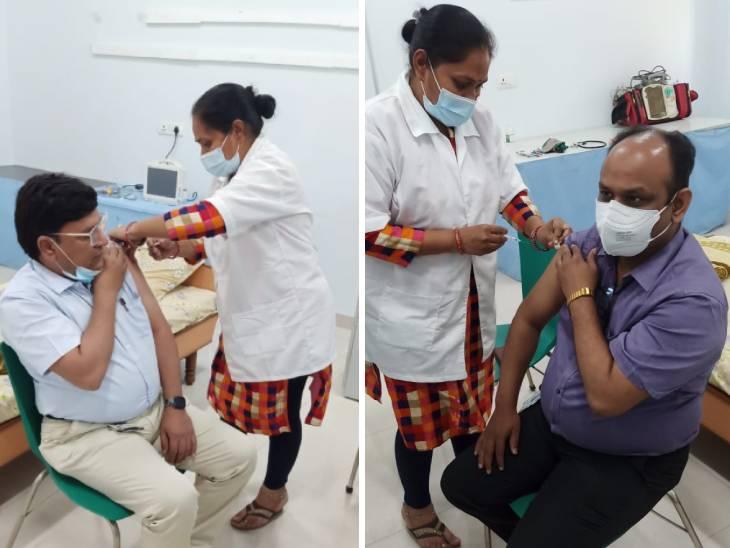 અમદાવાદમાં 108 ઈમર્જન્સી સેવાના 149 કોરોના વોરિયર્સને કોરોના વેક્સિનનો બીજો ડોઝ અપાયો|અમદાવાદ,Ahmedabad - Divya Bhaskar