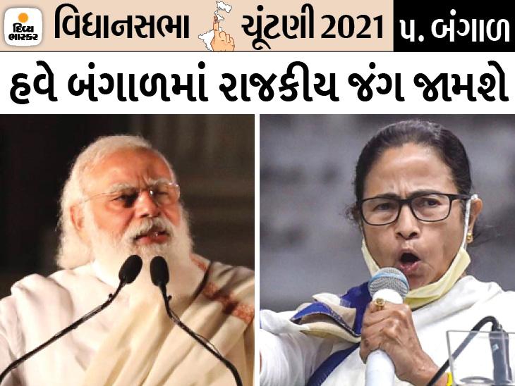 નંદીગ્રામથી ચૂંટણી લડશે મમતા, 7 માર્ચના રોજ પદયાત્રા કરશે અને આજ દિવસે PMની પણ કોલકાતામાં રેલી|ઈન્ડિયા,National - Divya Bhaskar