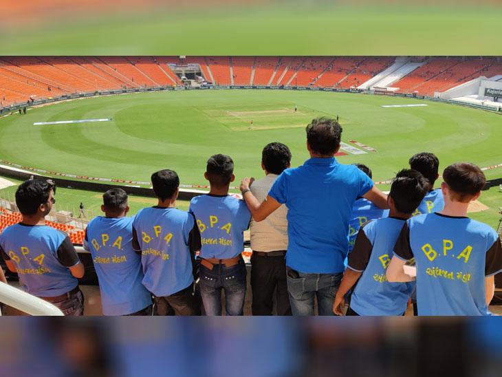 ભારતની ટીમને સપોર્ટ કરવા માટે અંધજન મંડળના 11 પ્રજ્ઞાચક્ષુ ક્રિકેટરો પોતાના કોચ સાથે મેચ જોવા સ્ટેડિયમ પહોંચ્યા - Divya Bhaskar
