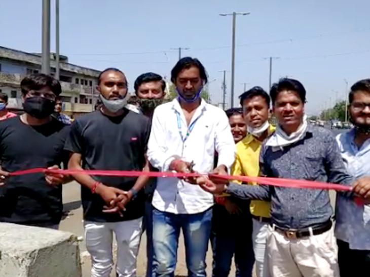 આમ આદમી પાર્ટીએ નવો બનેલો વિરાટનગર ઓવરબ્રિજ જનતા માટે ખુલ્લો મૂકી દીધો અમદાવાદ,Ahmedabad - Divya Bhaskar