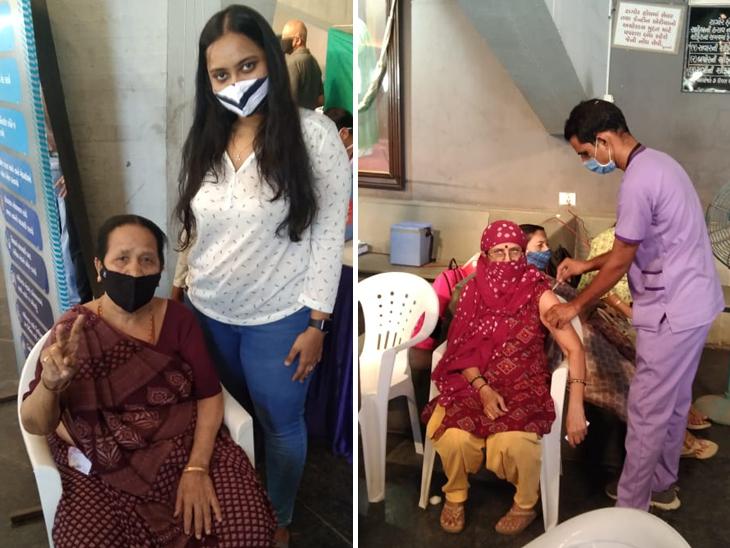 વેક્સિન લેતા પહેલા અનેક વિચારો આવ્યાં, પણ લીધા બાદ હવે બધાને વેક્સિન લેવાનું કહીશ, પાલડી ટાગોર હોલમાં રસી માટે લોકોની લાઈન અમદાવાદ,Ahmedabad - Divya Bhaskar