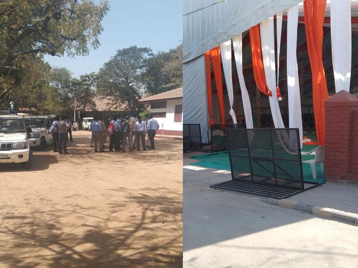12મી માર્ચે વડાપ્રધાન મોદીની ગાંધી આશ્રમની મુલાકાતને લઈ તડામાર તૈયારીઓ, અભયઘાટ ખાતે સભા ડોમ ઉભો કરાયો|અમદાવાદ,Ahmedabad - Divya Bhaskar