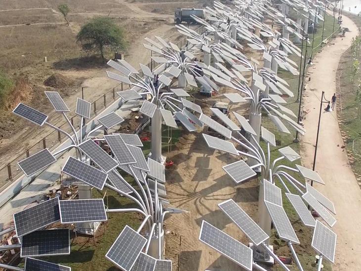 દાંડી સોલાર ટ્રી પ્રોજેકટ બે વર્ષમાં જ ખોટકાયો, 41 ટ્રીના સમારકામ માટે 20 લાખ ખર્ચનો અંદાજ|નવસારી,Navsari - Divya Bhaskar