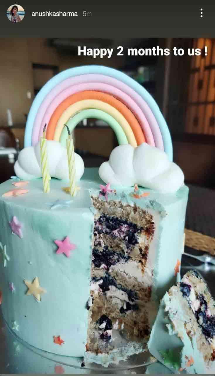 અનુષ્કા શર્માએ સો.મીડિયામાં કેકની તસવીર શૅર કરી હતી