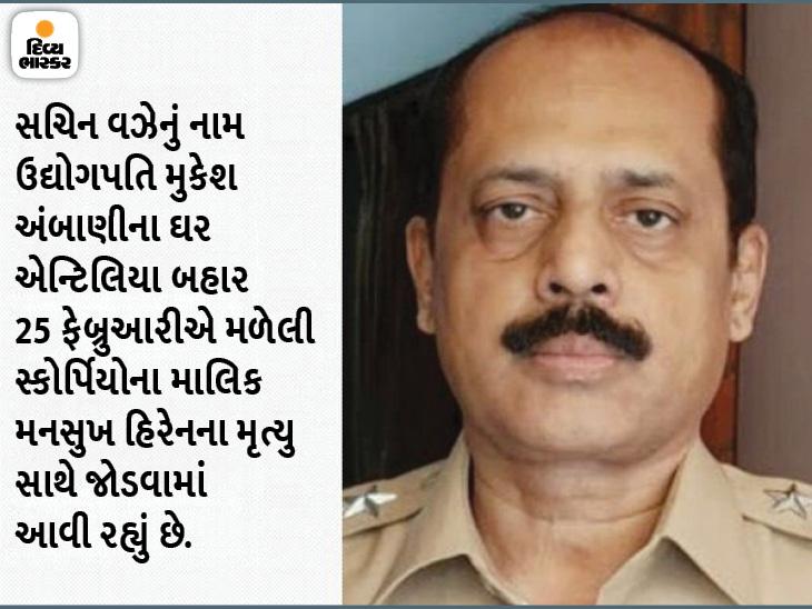 સચિન વઝેની આગોતરા જામીન અરજીને કોર્ટે નકારી, ન્યાયમૂર્તિએ કહ્યું- પોલીસ અધિકારી સામે પુરાવા છે|ઈન્ડિયા,National - Divya Bhaskar