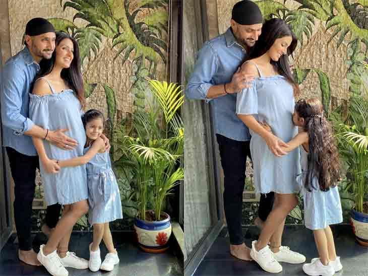 હરભજન બીજીવાર પિતા બનશે, પત્ની ગીતા બસરાએ બેબી બમ્પની તસવીર શૅર કરીને કહ્યું- 'COMING SOON' બોલિવૂડ,Bollywood - Divya Bhaskar
