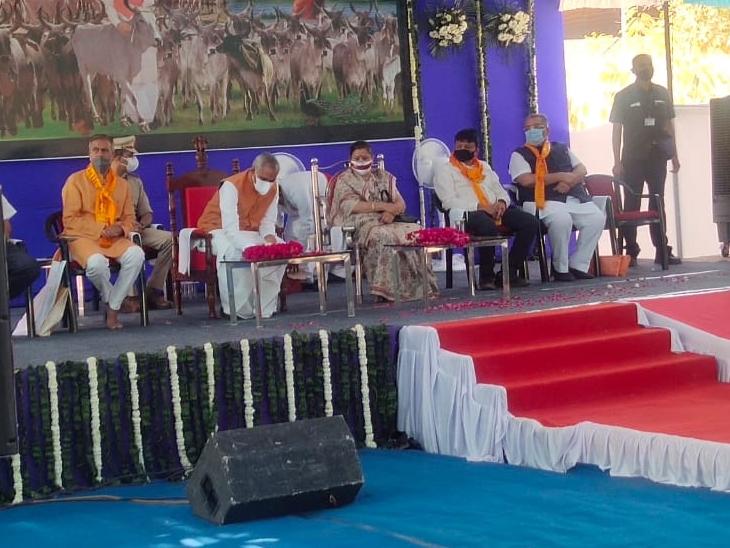 ગુજરાતને દેશી ગાય આધારીત પ્રાકૃતિક ખેતી તરફ આગળ વધારવું છે, રાજ્યપાલ દેવવ્રત|ભાભર,Bhabhar - Divya Bhaskar