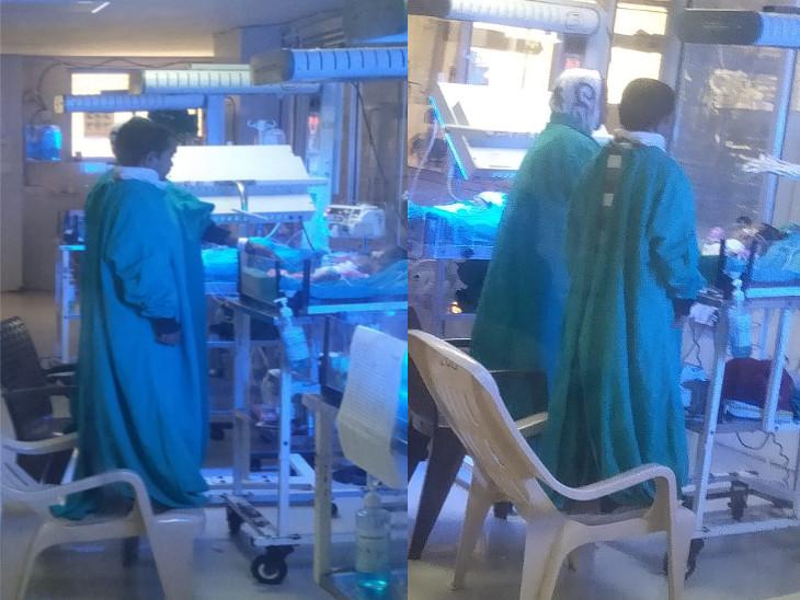 સુરતમાં કોરોનાકાળમાં લગ્ન કરનાર ચાર ફૂટની મહિલાએ પુત્રને જન્મ આપ્યો, ICUમાં દાખલ દીકરાને જોવા ખુરશી પર ઊભાં રહે છે સુરત,Surat - Divya Bhaskar