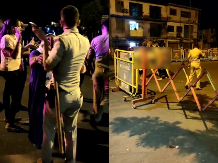સુરતમાં કિન્નરોએ રાત્રિ કર્ફ્યૂમાં કતારગામ ચેકપોસ્ટ માથે લીધું, નગ્ન થઈ પોલીસ સાથે મારામારીથી શરમજનક દૃશ્યો સર્જાયાં|સુરત,Surat - Divya Bhaskar