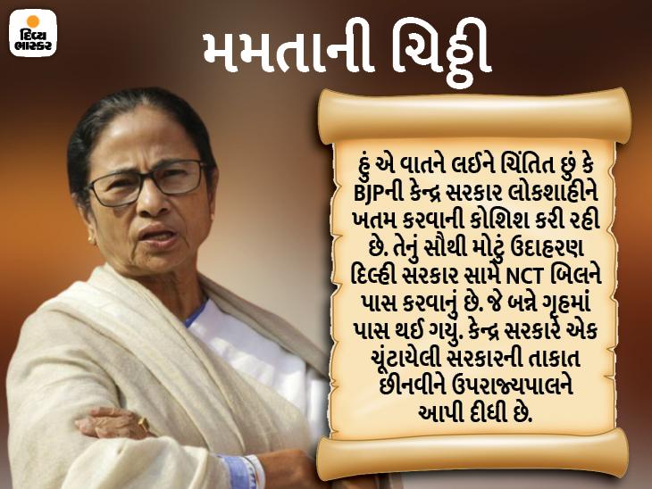 મમતા બેનરજીએ વિપક્ષને ચિઠ્ઠી લખી કહ્યું- લોકતંત્ર બચાવવા માટે મળીને લડવાનો સમય આવી ગયો છે|ઈન્ડિયા,National - Divya Bhaskar