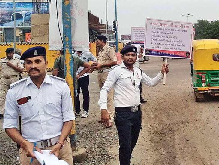અમદાવાદમાં ટ્રાફિક પોલીસ માટે વૈધ પ્રેરક શાહ દ્વારા માઈગ્રેન માટેના ફ્રી સેવા કેમ્પનું આયોજન અમદાવાદ,Ahmedabad - Divya Bhaskar