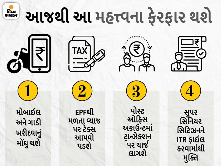 1 એપ્રિલથી ઇન્કમ ટેક્સ અને બેન્કિંગ સહિત 11 નિયમોમાં ફેરફાર થશે, અહીં જુઓ આ નિયમો કયા છે યુટિલિટી,Utility - Divya Bhaskar