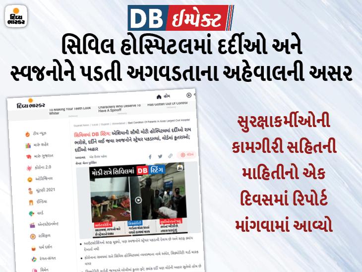 એશિયાની સૌથી મોટી હોસ્પિટલમાં દર્દીઓ અને સ્વજનો રામ ભરોસે હોવાના અહેવાલ બાદ સિવિલ સુપ્રિટેન્ડન્ટે જવાબદારો પાસે જવાબ માંગ્યો|અમદાવાદ,Ahmedabad - Divya Bhaskar