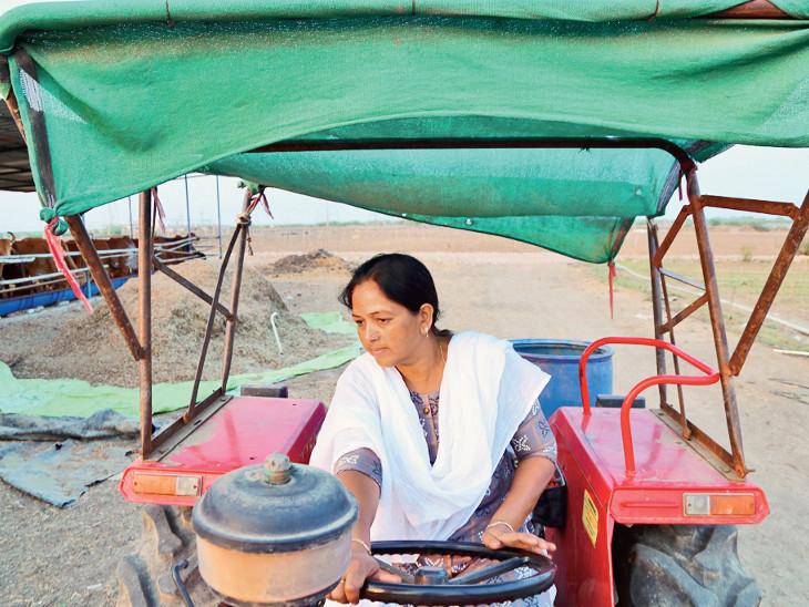 સુરતની દિવ્યાંગ મહિલાએ 10 હજાર રૂપિયા ઉધાર લઈ જમીનને ઉપજાઉ બનાવી, આજે વાર્ષિક ટર્નઓવર 22 લાખ છે|સુરત,Surat - Divya Bhaskar