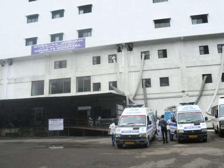 સ્મીમેર હોસ્પિટલ હાઉસફૂલ થઈ જતા કોરોના પોઝિટિવ દર્દીઓને સિવિલ હોસ્પિટલ રિફર કરાયા|સુરત,Surat - Divya Bhaskar