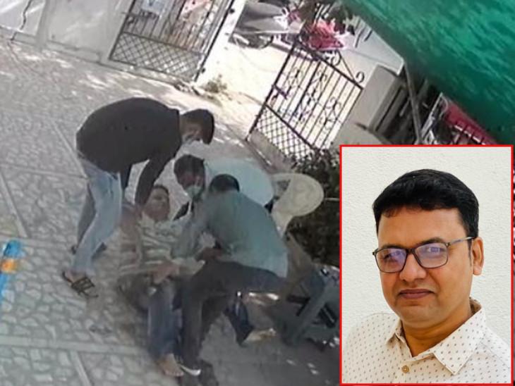 દુકાનમાં કોરોના પોઝિટિવ ગ્રાહક ઢળી પડ્યો તો માલિકે CPRથી જીવ બચાવ્યો, પછી માલિક પણ પોઝિટિવ આવ્યો છતાં કહ્યું, 'કોરોના તો કાલે મટી જશે, માનવતા રહેવી જોઈએ'|વડોદરા,Vadodara - Divya Bhaskar