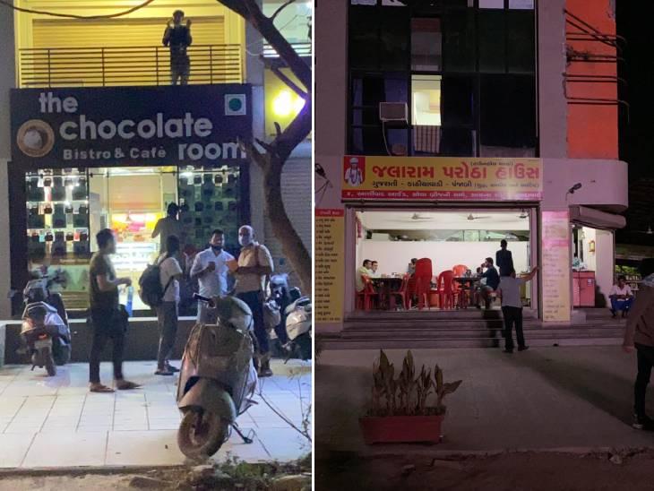 રાત્રિ કર્ફ્યૂમાં પણ દુકાનો ખુલ્લી રહી પણ પોલીસે કોઈ એક્શન ના લીધી
