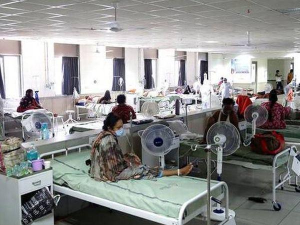 હોસ્પિટલમાં એડમિટ કોરોનાના દર્દીઓની ફાઈલ તસવીર