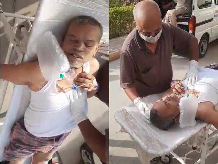 ગઇકાલે સમરસ હોસ્ટેલના કોવિડ કેર સેન્ટરમાં 2 કલાક સુધી સારવાર ન મળતા દર્દીએ એમ્બ્યુલન્સમાં દમ તોડ્યો હતો.