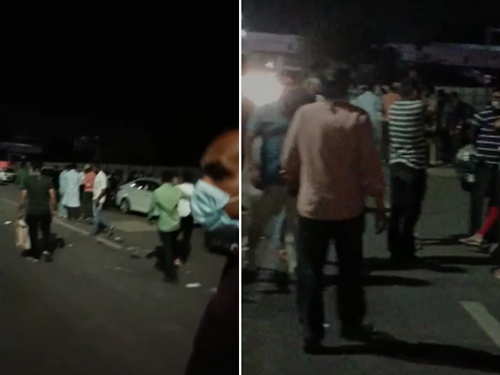 ભર તડકો હોય કે રાત્રિ કર્ફ્યૂ, એક રેમડેસિવિર ઇન્જેક્શન માટે ઝાયડ્સની બહાર લોકોના હવાતિયાં અમદાવાદ,Ahmedabad - Divya Bhaskar