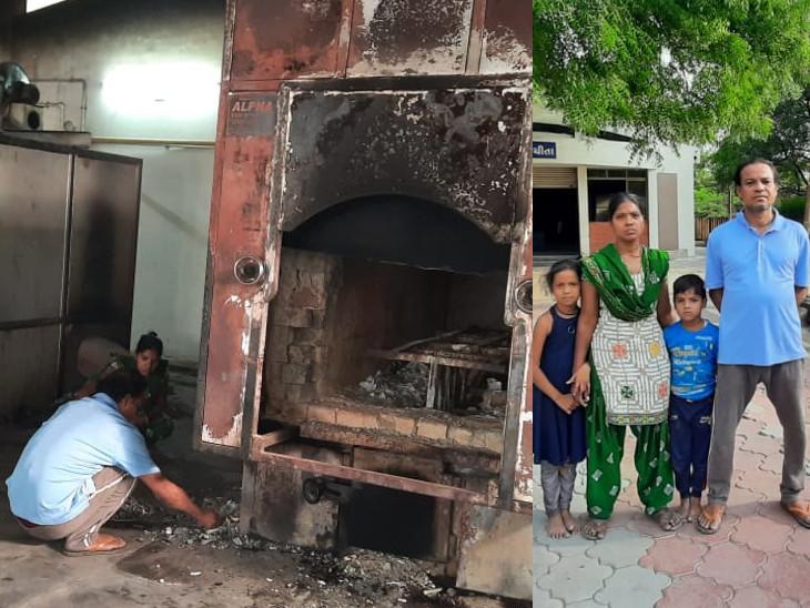 વડોદરામાં કોરોના મહામારીમાં મોભીએ નોકરી ગુમાવતાં પરિવારે સ્મશાનને ઘર બનાવ્યું, કોરોનાના મૃતકોનાં અંતિમસંસ્કાર-અસ્થિવિસર્જનની સેવા કરે છે|વડોદરા,Vadodara - Divya Bhaskar