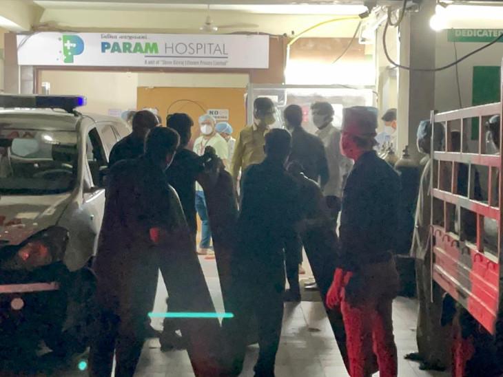 રાજકોટની પરમ કોવિડ હોસ્પિટલમાં ઓક્સિજનનો જથ્થો પૂરો થવાની તૈયારી, 30 દર્દીના જીવ જોખમમાં; તંત્રએ તાત્કાલિક 15 સિલિન્ડર પહોંચાડ્યા|રાજકોટ,Rajkot - Divya Bhaskar
