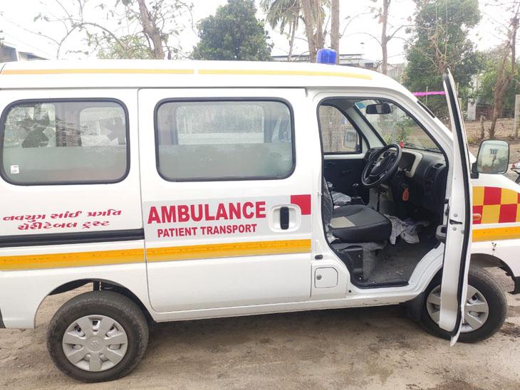 ગામડામાં રહેતા કોરોનાના દર્દીને સુરતની હોસ્પિટલમાં લઇ જવા માટે વિદ્યાર્થીએ મફત એબ્યુલન્સ સેવા શરૂ કરી|સુરત,Surat - Divya Bhaskar