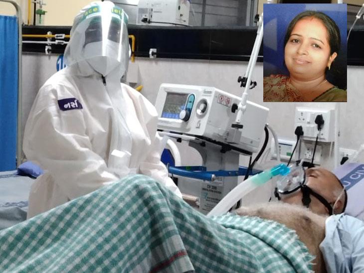 પાટડીમાં નર્સ 8 વર્ષના દિકરા સહિત 9સભ્યો પોઝિટિવ છતાં કોવિડ દર્દીઓની સારવાર કરે છે|પાટડી,Patdi - Divya Bhaskar