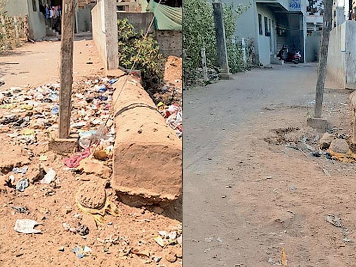 આશિયાના નગર - કુબાપાર્કને જોડતા ગરનાળા પાસે પથરાયેલી ગંદકી આખરે હટાવવામાં આવી|બારડોલી,Bardoli - Divya Bhaskar